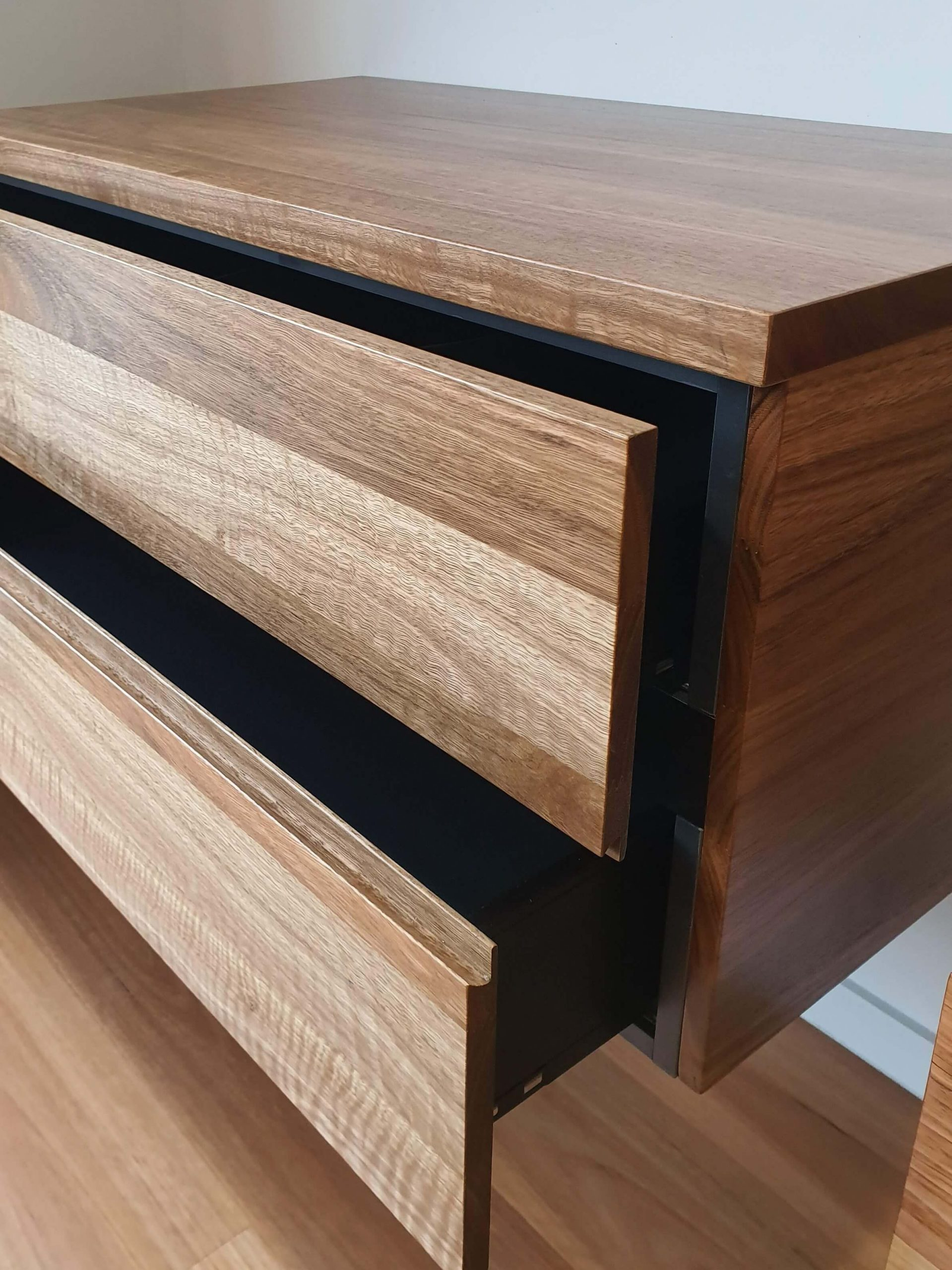Spotted Gum Open Drawer Melbourne
