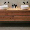 blackbutt timber bathroom vanity