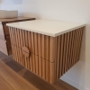 panelled timber vanity